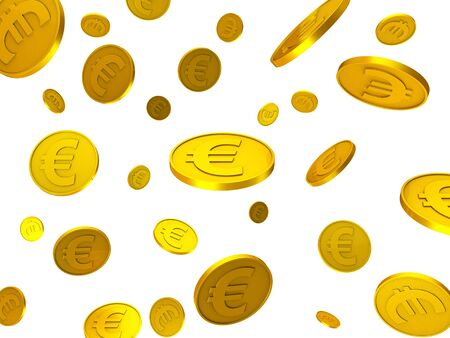 euro coins: Euro Coins Showing Save Finance And Cash Stock Photo