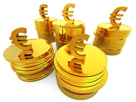 saved: Euro Cash Showing Saved Wealthy And Finance