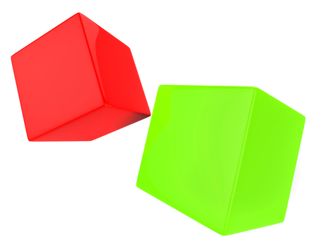 text space: Dice Blocks Showing Text Space And Wager Stock Photo