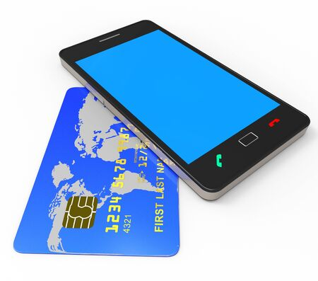 bankcard: Credit Card Online Meaning Web Site And Buyer Stock Photo
