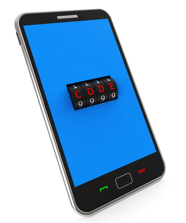 locking: Secure Phone Showing World Wide Web And Locking Network
