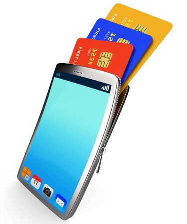 creditcard: Credit Card Online Meaning World Wide Web And Website Stock Photo