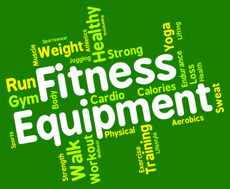 get a workout: Fitness Equipment wordcloud