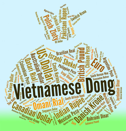 fx: Vietnamese Dong Representing Foreign Exchange And Fx Stock Photo