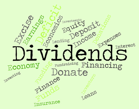 yields: Dividends Word wordcloud