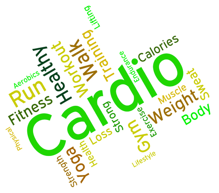 get a workout: Cardio Word wordcloud