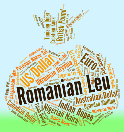 leu: Romanian Leu Representing Foreign Exchange And Forex Stock Photo