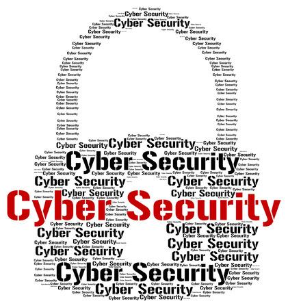 Wordcloud Seguridad Cibernética Foto de archivo - 41601818