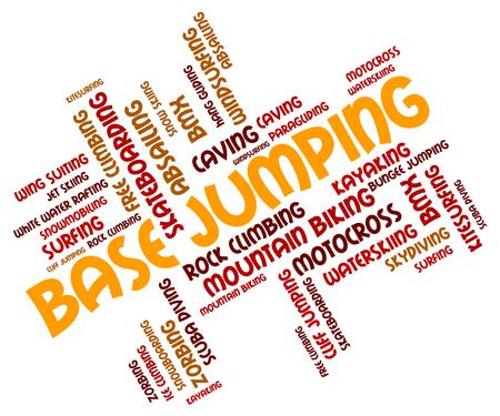wordcloud: Base Jumping wordcloud Stock Photo