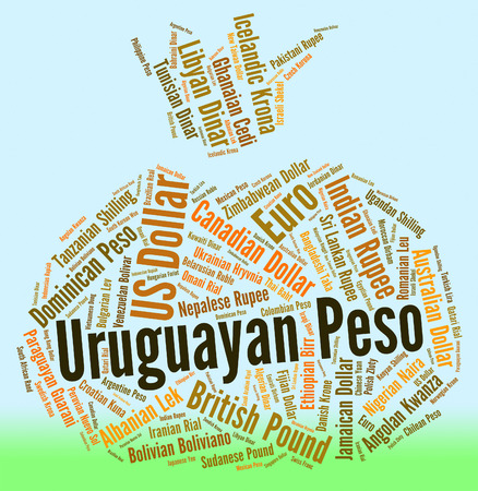 peso: Uruguayan Peso wordcloud Stock Photo