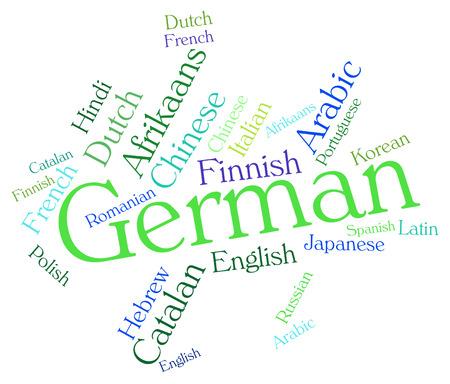 lingo: German Language wordcloud Stock Photo