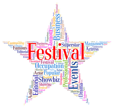 galas: Festival Star wordcloud Stock Photo
