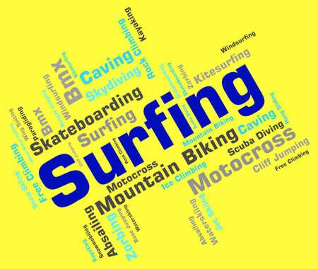 wordcloud: Surfing Word wordcloud