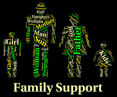 kin: Family Support wordcloud
