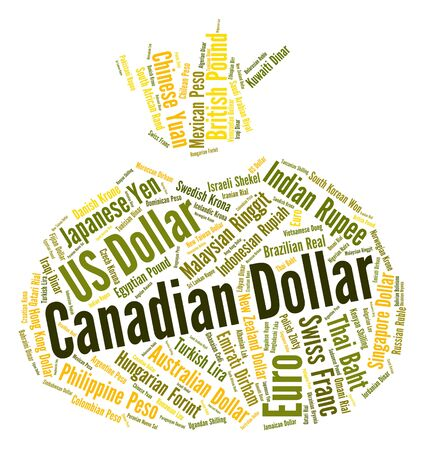 canadian coin: Canadian Dollar wordcloud