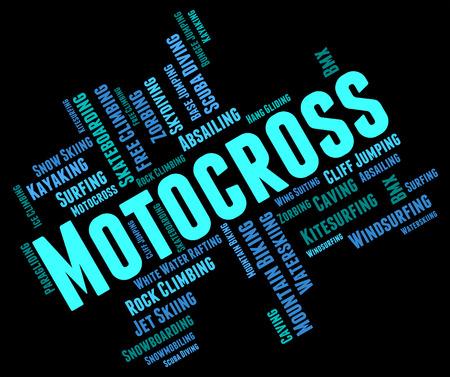 supercross: Motocross Words wordcloud