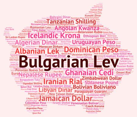 bulgarian: Bulgarian Lev wordcloud