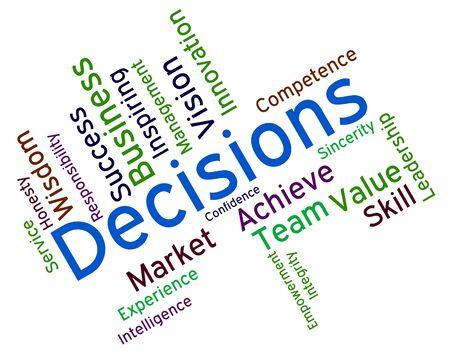decide deciding: Decision Words wordcloud