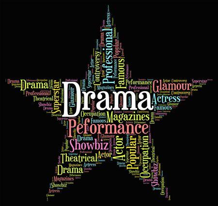 melodrama: Drama Star wordcloud Stock Photo
