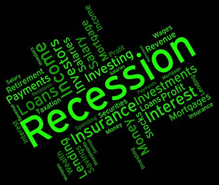 Recession Word wordcloud Stock Photo