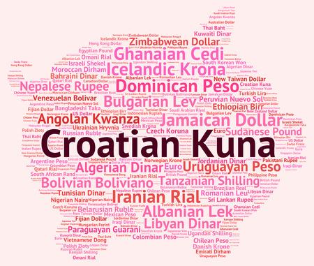 croatian: Croatian Kuna wordcloud