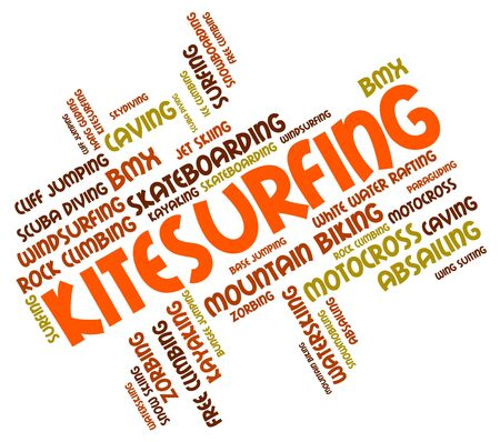 kitesurfing: Kitesurfing Word wordcloud