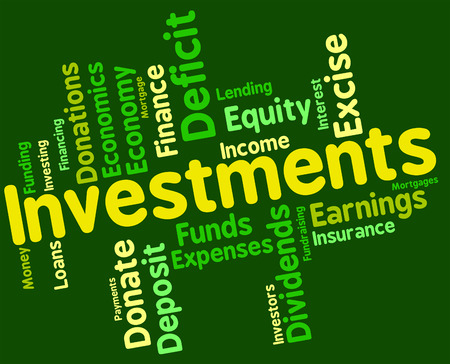 wordcloud: Investments Word wordcloud Stock Photo