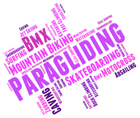 paragliding: Paragliding Word wordcloud