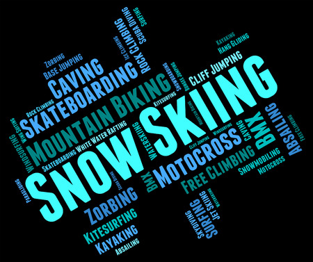 wintersports: Snow Skiing wordcloud Stock Photo