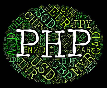 php: Php Currency wordcloud