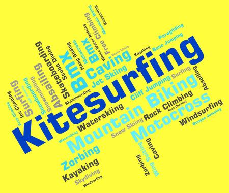 wordcloud: Kitesurfing Word wordcloud