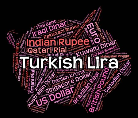 turkish lira: Turkish Lira wordcloud Stock Photo