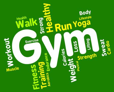wordcloud: Gym Wordcloud Stock Photo