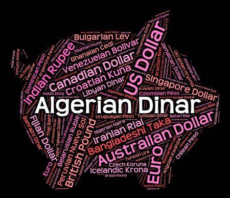 Algierski: Algerian Dinar wordcloud