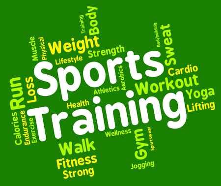 get a workout: Sports Training wordcloud
