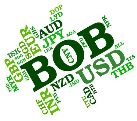 wordcloud: Bob Currency wordcloud Stock Photo
