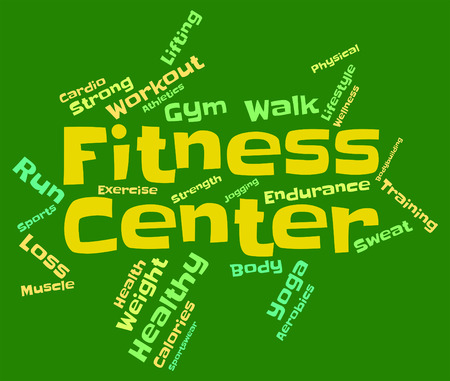 get a workout: Fitness Center wordcloud