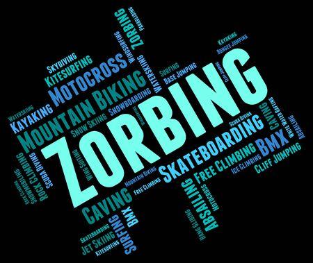 wordcloud: Zorbing Word wordcloud