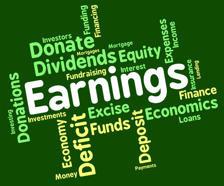 yields: Earnings Word wordcloud