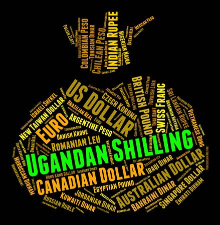 ugandan: Ugandan Shilling wordcloud Stock Photo