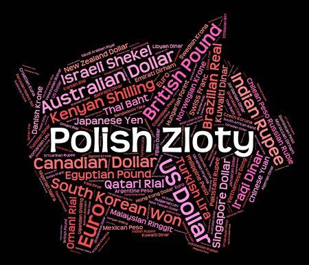 wordcloud: Polish Zloty wordcloud