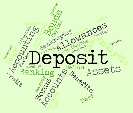 advances: Deposit Word wordcloud Stock Photo