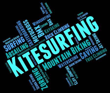 kite surfing: Kitesurfen Woord wordcloud