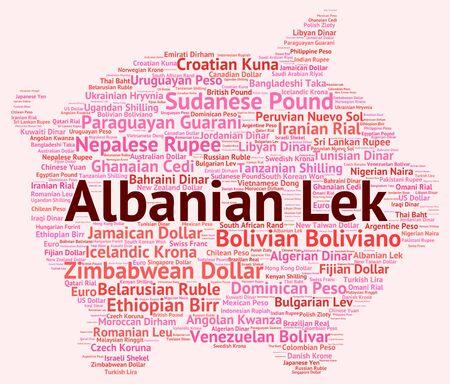albanian: Albanian Lek wordcloud