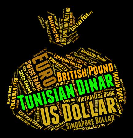dinar: Tunisian Dinar wordcloud