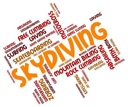 wordcloud: Skydiving Word wordcloud Stock Photo