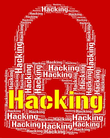 threat: Hacking Lock Showing Virus Vulnerable And Threat
