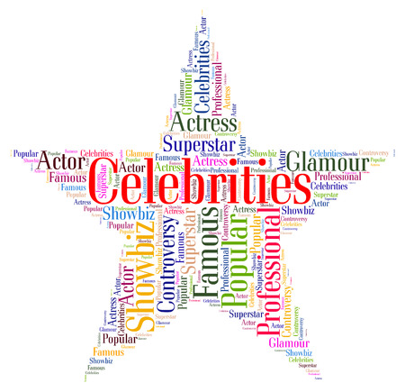notorious: Celebrities Star Representing Notable Text And Renowned Stock Photo