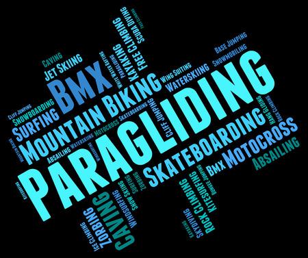 parapente: Paragliding Word wordcloud