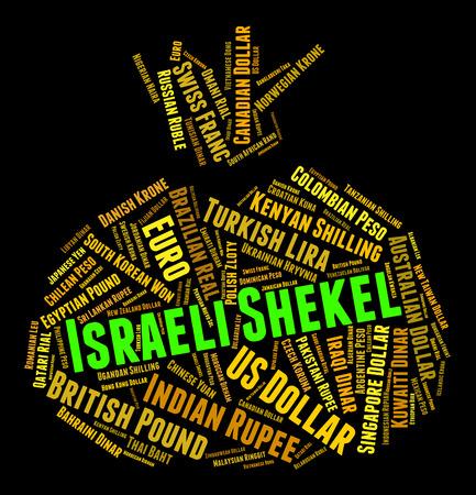 israeli: Israeli Shekel wordcloud